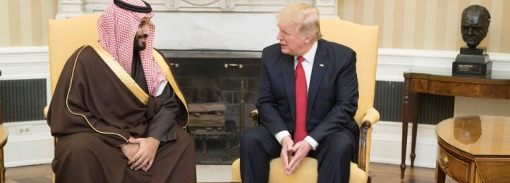 President Donald Trump meets with the Deputy Crown Prince of Saudi Arabia