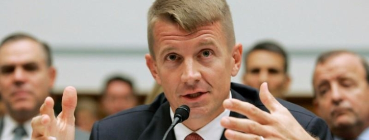 FILE PHOTO: Blackwater USA Chief Executive Prince testifies on security contracting in Iraq and Afghanistan on Capitol Hill in Washington