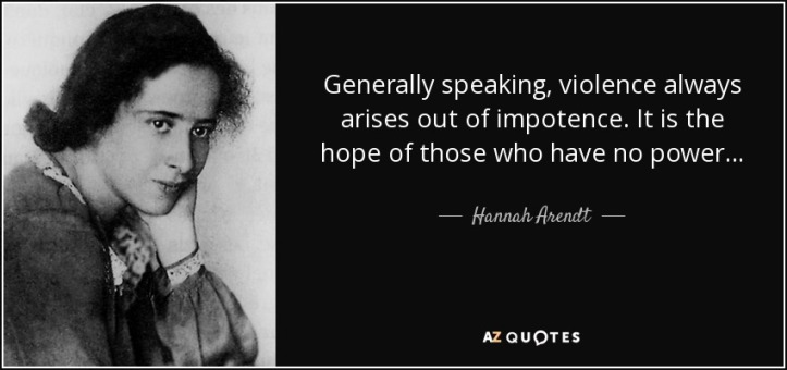 quote-generally-speaking-violence-always-arises-out-of-impotence-it-is-the-hope-of-those-who-hannah-arendt-115-98-87