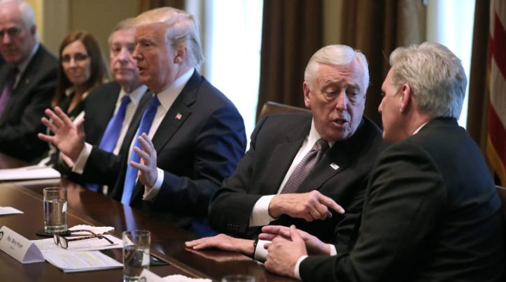 President Trump Meets With Bipartisan Group Of Senators On Immigration
