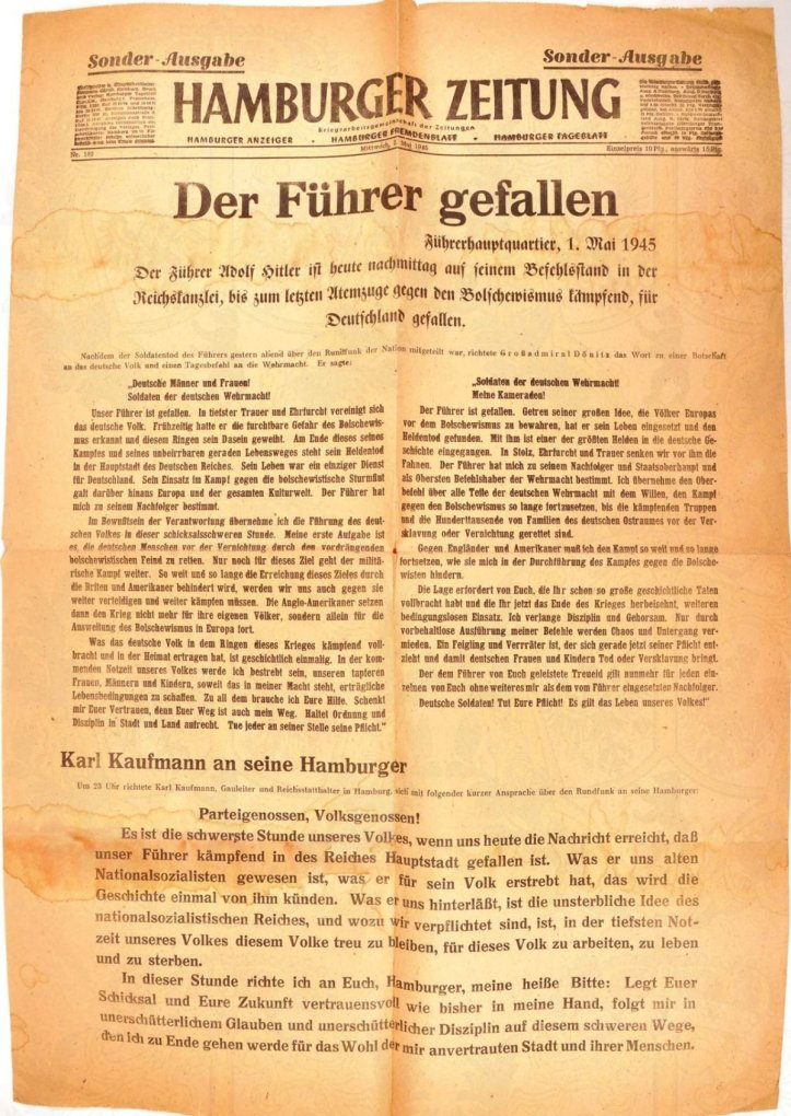 a-special-edition-of-the-german-newspaper-hamburger-zeitung-was-less-celebratory-the-fuhrer-has-fallen-its-headline-read