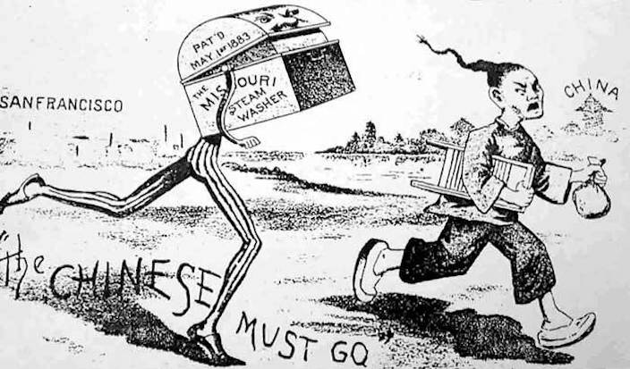 Image result for chinese exclusion act cartoon