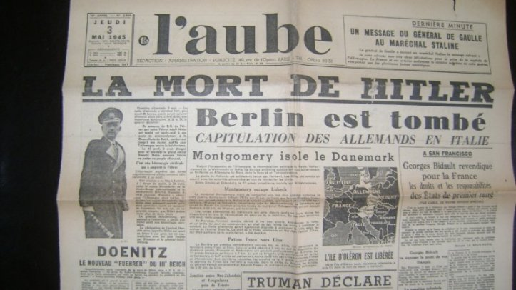 french-newspaper-laube-led-with-la-mort-de-hitler-the-death-of-hitler