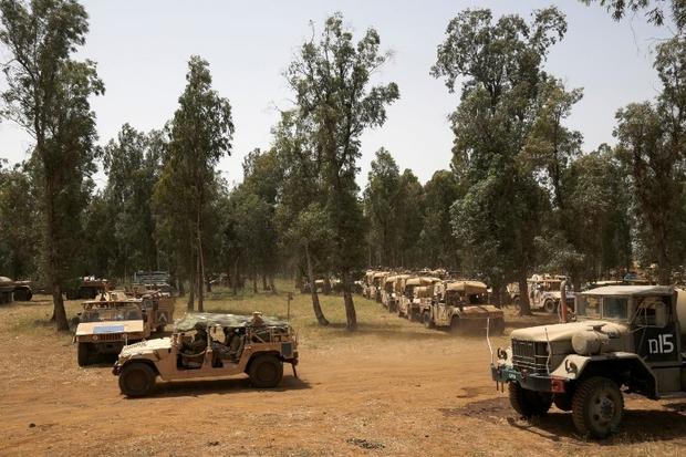 ISRAEL-SYRIA-ARMY-DRILL