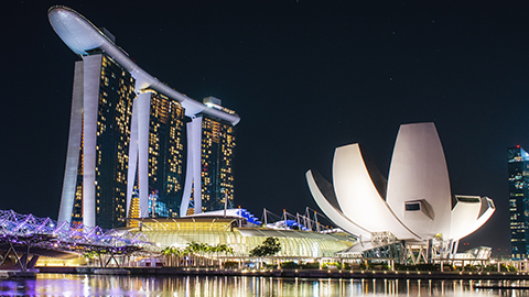 Singapore skyline at night - 480x270 - Leonid Iaitskyi