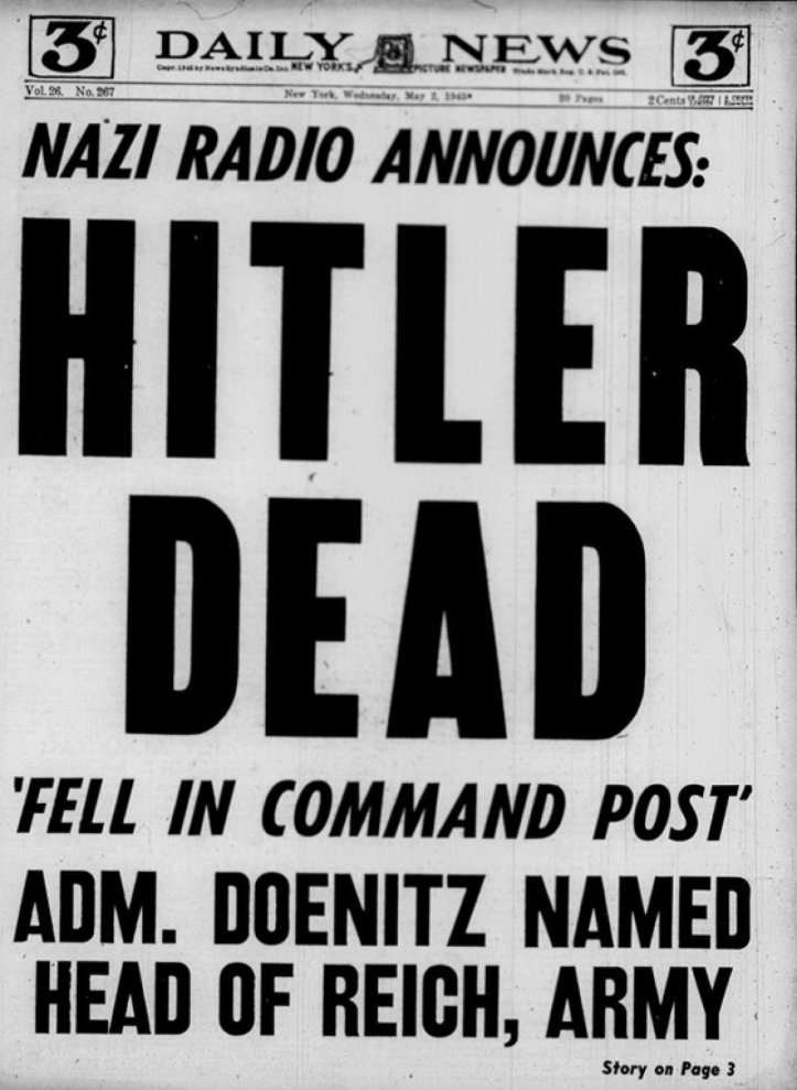 the-new-york-daily-news-devoted-the-entire-front-page-to-the-striking-headline-hitler-dead