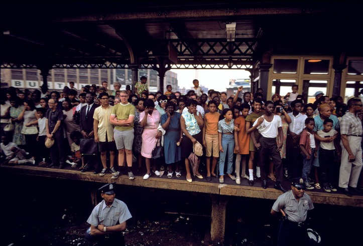 USA. Philadelphia, PA. 1968. Robert Kennedy funeral train.