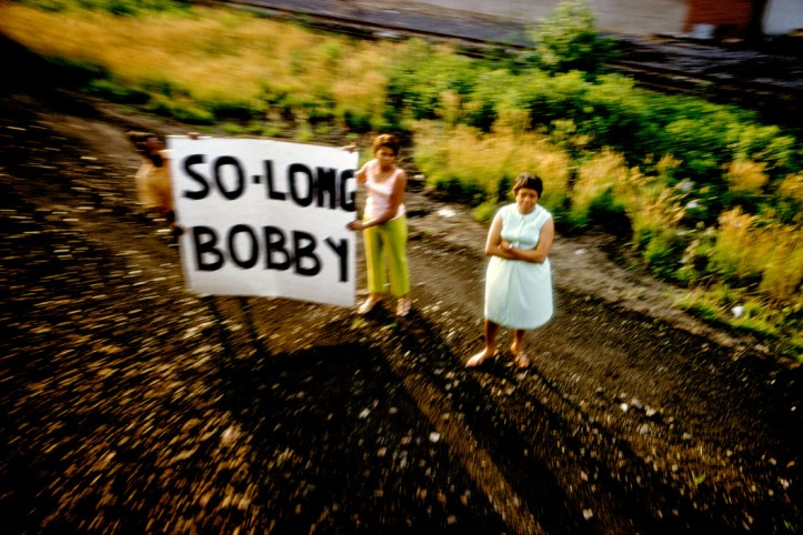 USA. 1968. Robert KENNEDY funeral train.