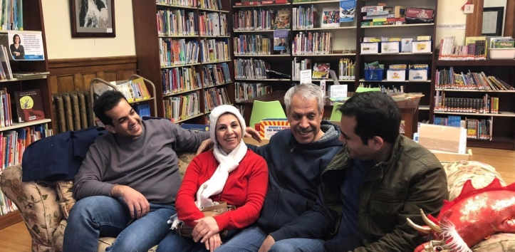 An Iranian family reunites at the Haskell Free Library and Opera House in Derby Line